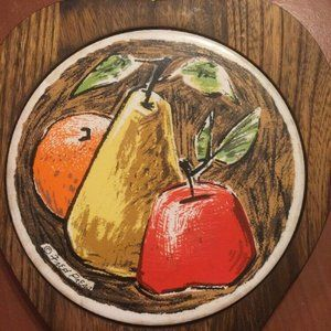 Vintage bread cheese board Wood and Tile